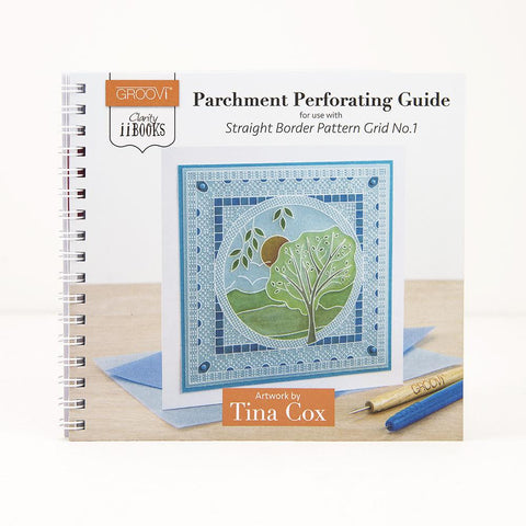 Clarity ii Book: Parchment Perforating Guide <br/>for Straight Border Pattern Grid No.1 <br/>by Tina Cox
