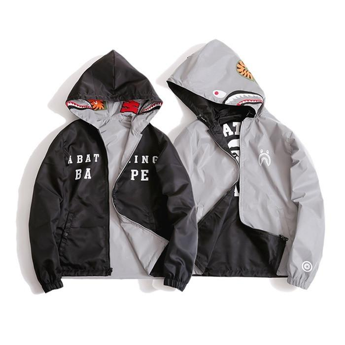 A Bathing Ape Reflective Shark Jacket