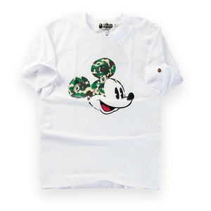 A Bathing Ape x Mickey Mouse Camo Head T-Shirt