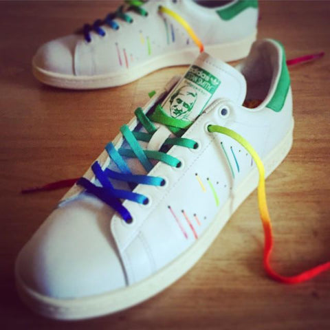 Adidas Stan Smith Pride Pack  Rainbow Paint Splatter-D70352  36c8f8e6b