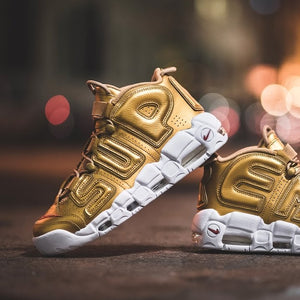 Supreme x Air More Uptempo Suptempo Gold