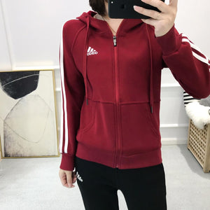 Adidas Women Casual Outerwear With Zipper Long Sleeves