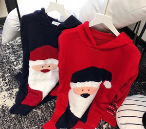 "Christmas Theme ""Santa Claus"" Pointy Hat Sweater"