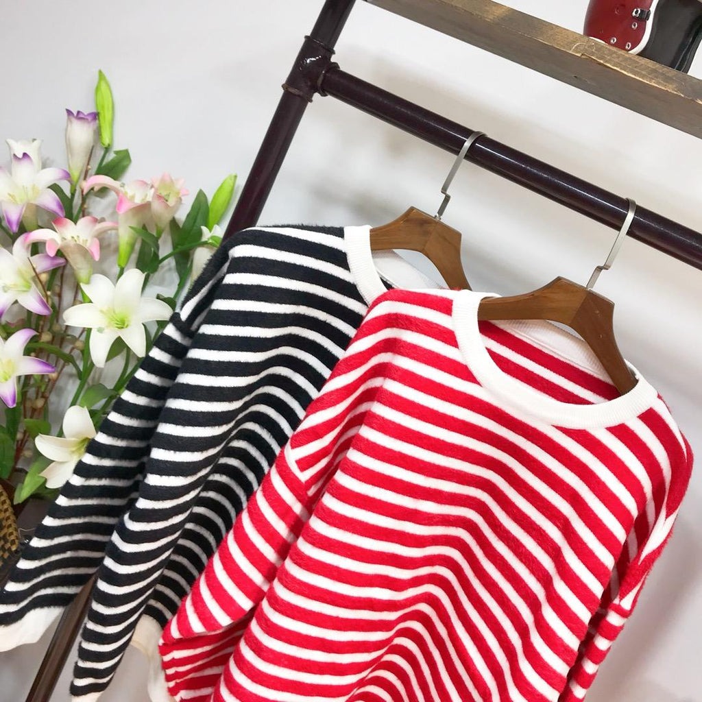 ZARA Stripes Stretchable Sweater Long Sleeves