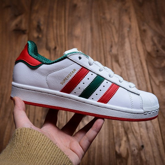 adidas superstar red and green