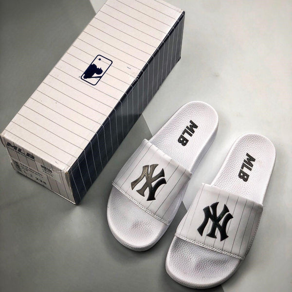 MLB Baseball League Slides Sandal White