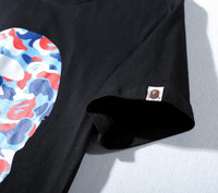 A Bathing Ape Logo with Color Camo