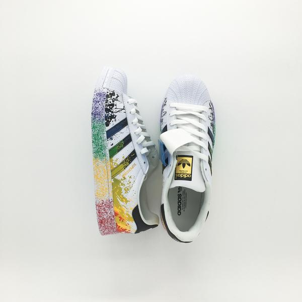 promo code f0300 74471 Adidas Superstar Pride Pack Shoes