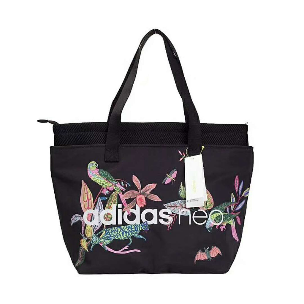 Adidas Neo Floral Shoulder Bag 'Black'
