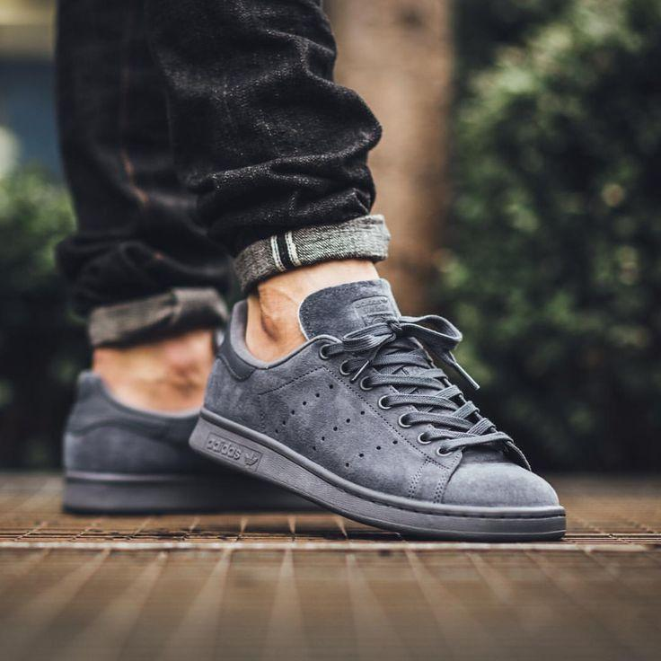 buy popular a65cc 1a0fb Adidas Stan Smith Suede 'Onix Grey'