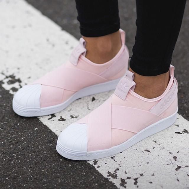 c0c565dc4bd070 Adidas Superstar Slip On    Halo Pink    – FootWork