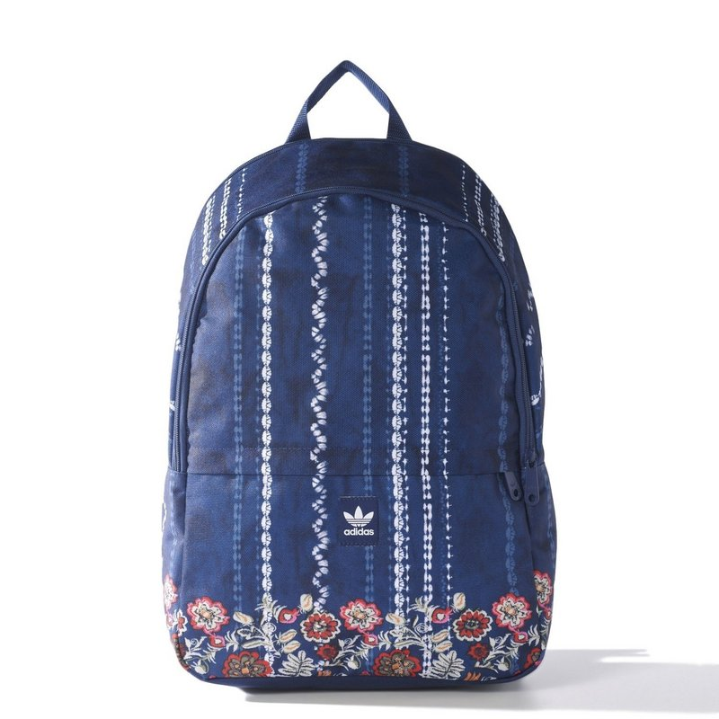 Adidas Blue Floral Backpack