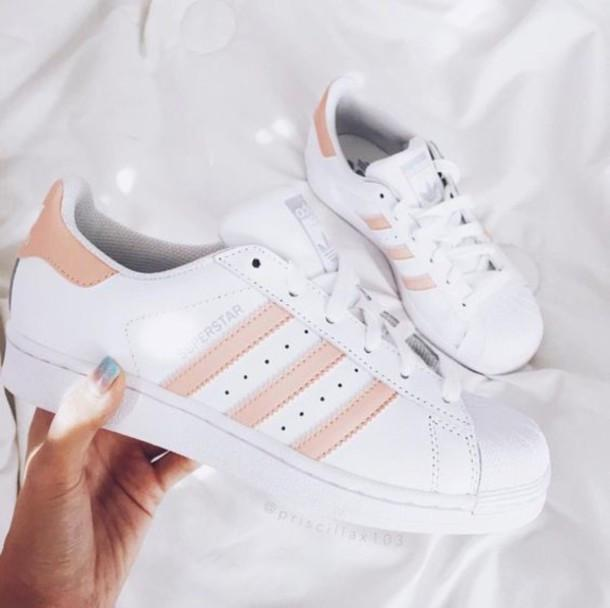 huge selection of 58381 008bf Adidas Superstar white pink
