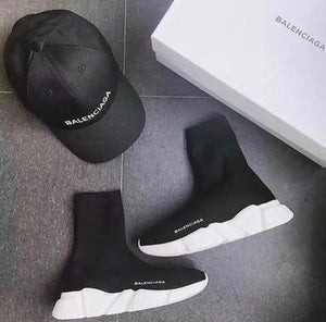 Balenciaga Speed Trainers  Black  White