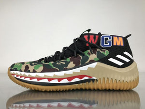best loved 549f6 701ad A Bathing Ape x adidas Dame 4 Camo