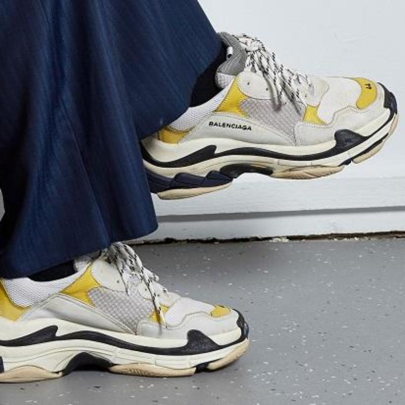 Balenciaga Triple S 18ss 'White/Yellow'