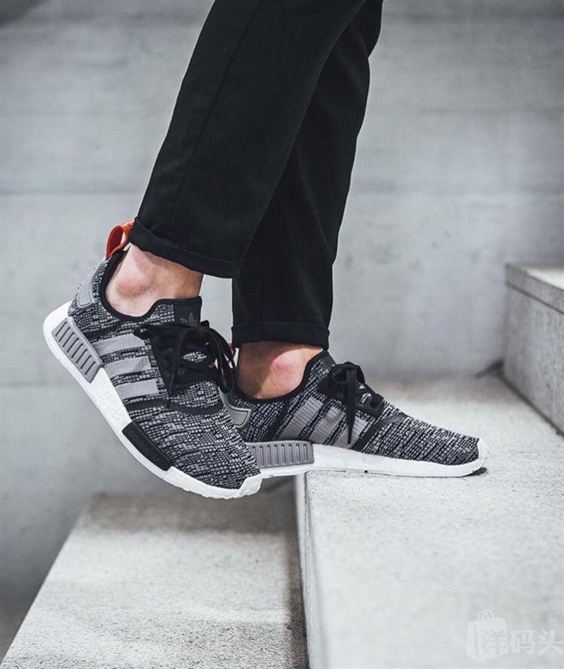 14d3fc3018c Adidas NMD R1 Glitch  Core Black Dark Grey  – FootWork