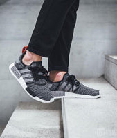 Adidas NMD R1 Glitch 'Core Black/Dark Grey'