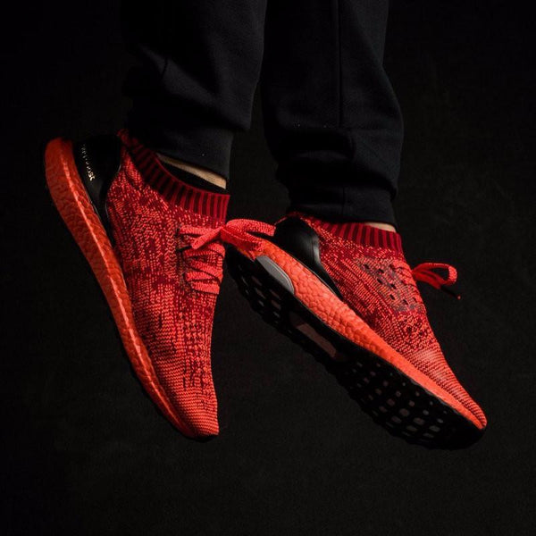 ADIDAS ULTRA BOOST UNCAGED Scarlet, Solar Red & Black