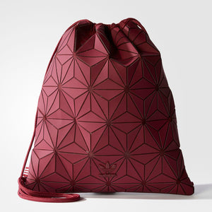 Adidas 3D Mesh Bag Bucket Gym Sack Burgundy red