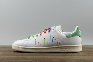 huge discount e54f1 4a048 Adidas Stan Smith Pride Pack  Rainbow Paint Splatter-D70352