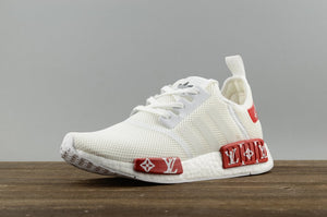 wholesale dealer 629c7 f40cd Adidas NMD x LV Louis Vuitton Custom White Red – FootWork