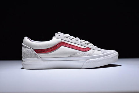 Vans Old Skool Style 36  Marshmallow Racing Red  – FootWork 4f3b51577cccc