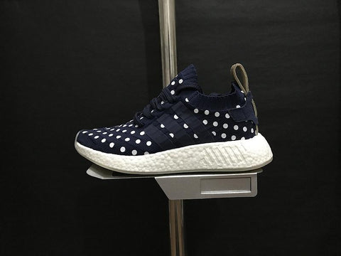 5634c8d08 Adidas NMD R2 Primeknit  Collegiate Navy   Running White  – FootWork