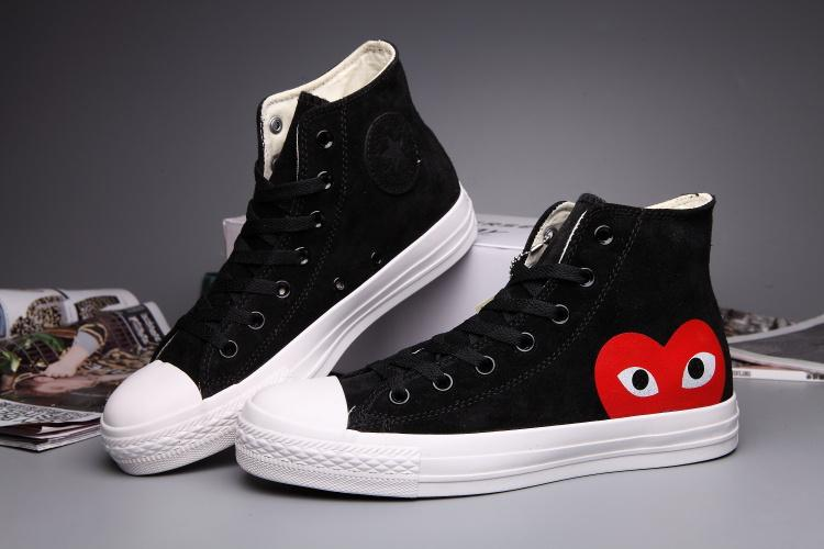 Converse Comme Des Garcons Suede Chuck Taylor All Star BlackWhite High Cut 709562f01