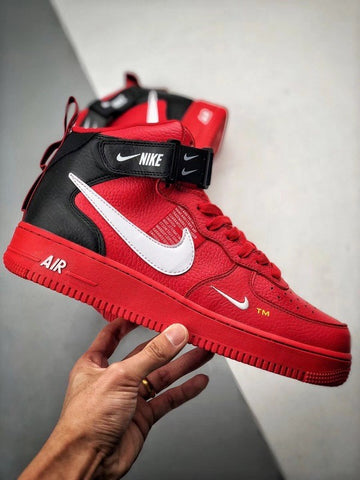 super popular f9cdd 39006 Nike Air Force 1 Mid  07 LV8 (red   black)