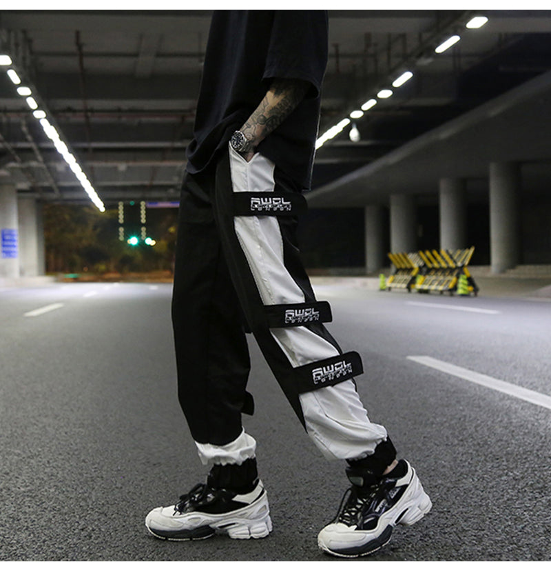 INS hip hop velcro design straight loose pants