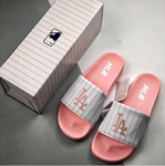 MLB Baseball League Slides Sandal White/Pink