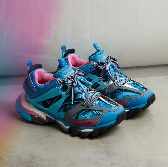 "Balenciaga TRACK TRAINERS ""Blue/Pink"""
