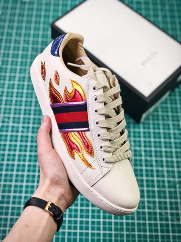b4fca1aa8c6 GUCCI Ace Embroidered Low metallic Flame 2018 ss  02 – FootWork