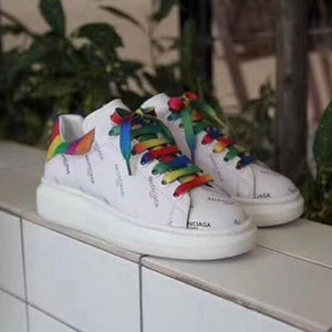 Balenciaga White Rainbow Sneakers