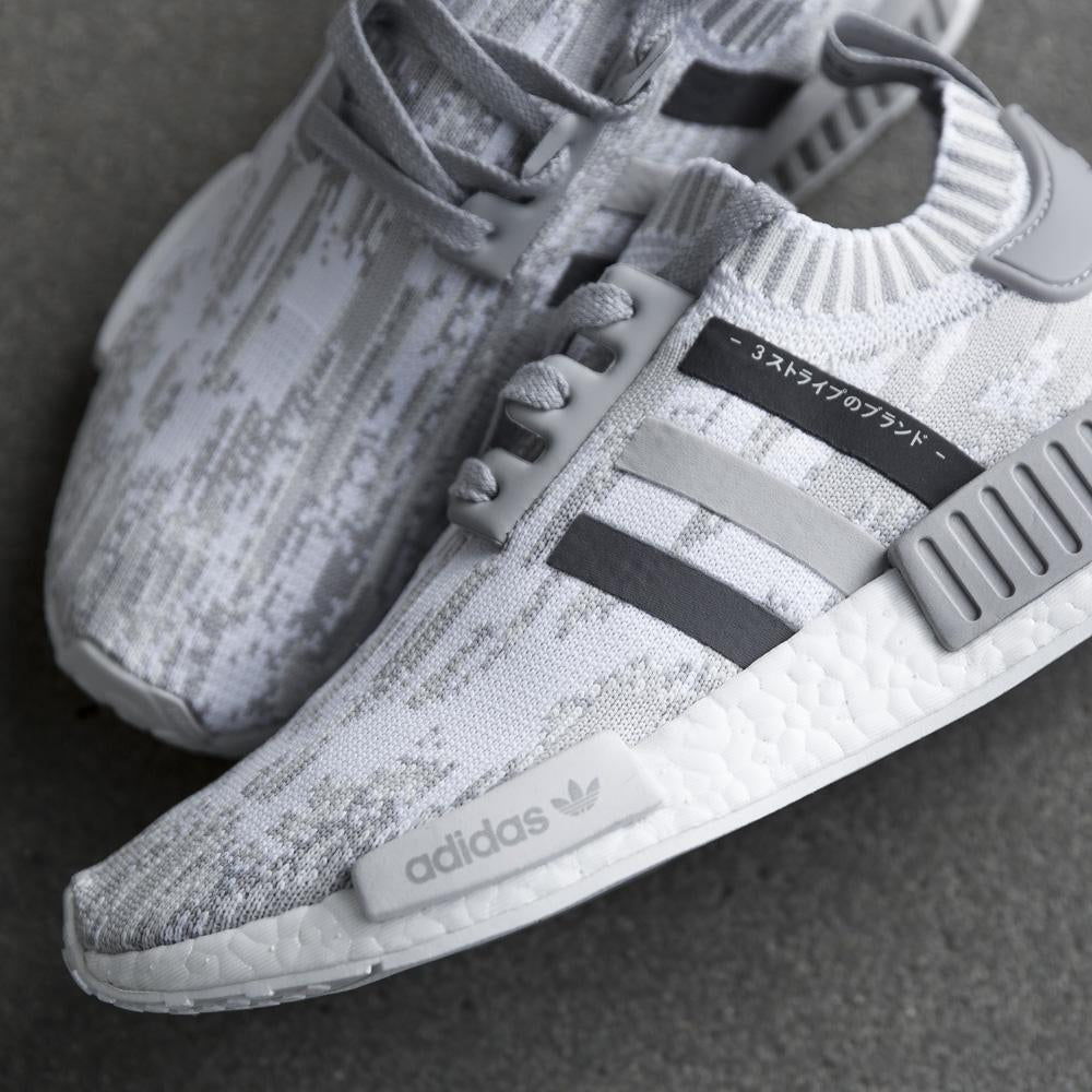 uk availability 790e5 19f64 Adidas WMNS NMD_R1 Primeknit 'Grey Glitch Camo'