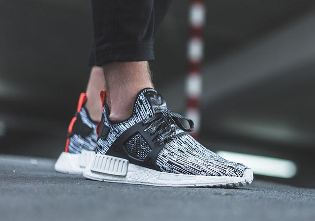 best service 8bfd1 aa24a ADIDAS NMD XR1 Glitch Pack 'White/Black/Orange'