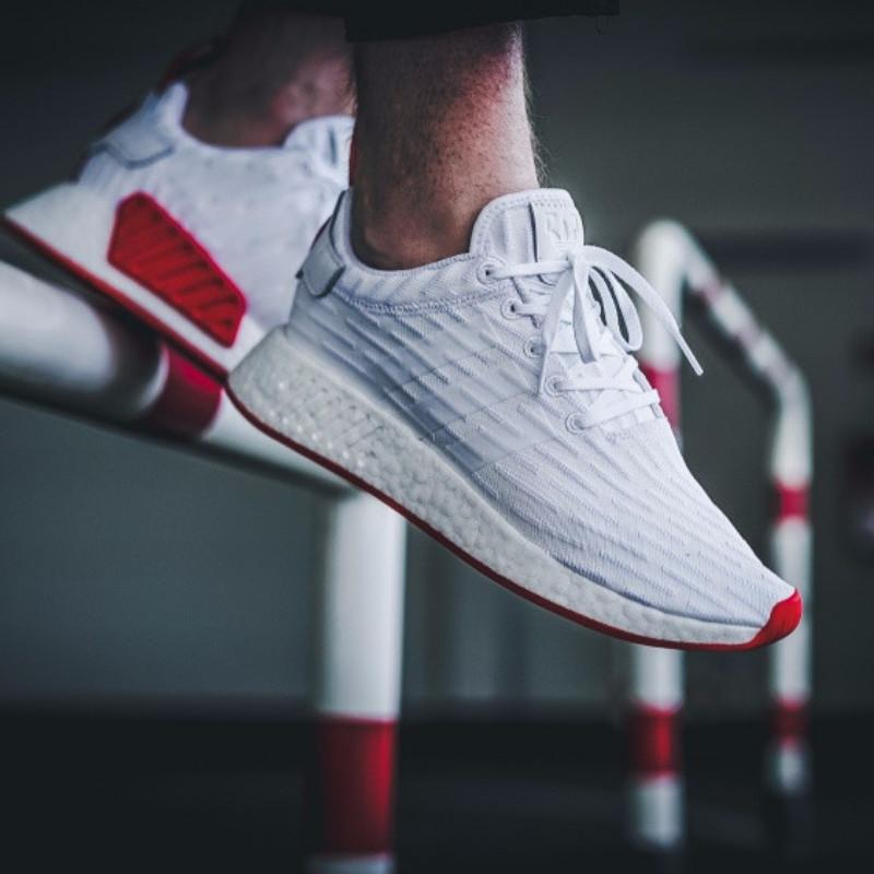0592c1a8f1a8 Adidas NMD R2 Primeknit  Footwear White Core Red  – FootWork