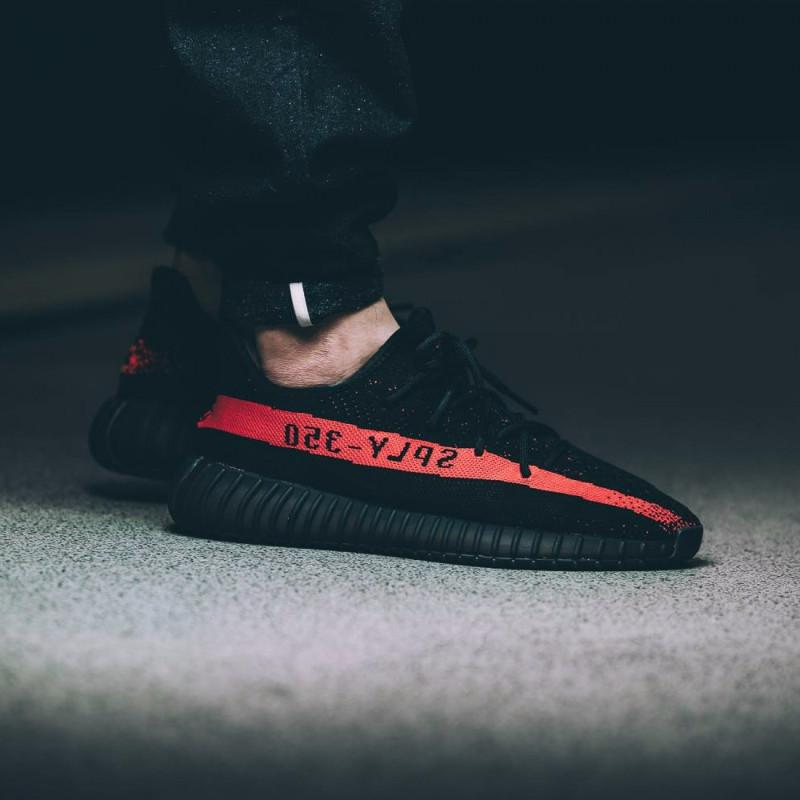 "Adidas Yeezy Boost 350 V2 ""Black/Red"""