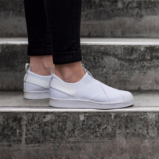 best service d6799 90c68 Adidas Superstar Slip On Core All White