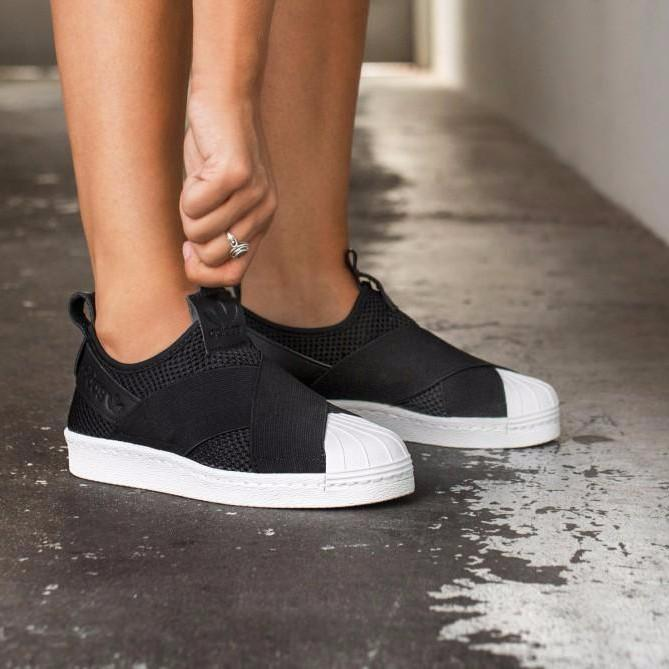 on sale 88b35 6fb96 Adidas Superstar Slip On 'Core Black'