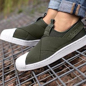 premium selection d62bc c1229 Adidas Superstar Slip On 'Khaki Green' – FootWork
