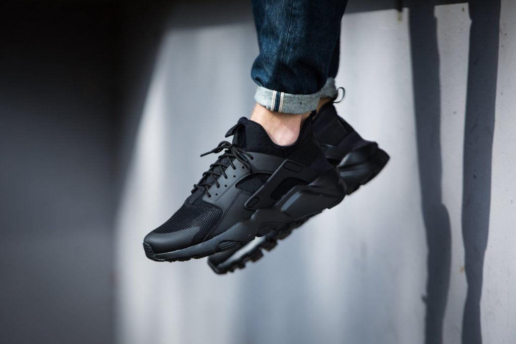 outlet store 227c6 18d39 50% off nike air huarache run ultra triple black 353dc 006a6