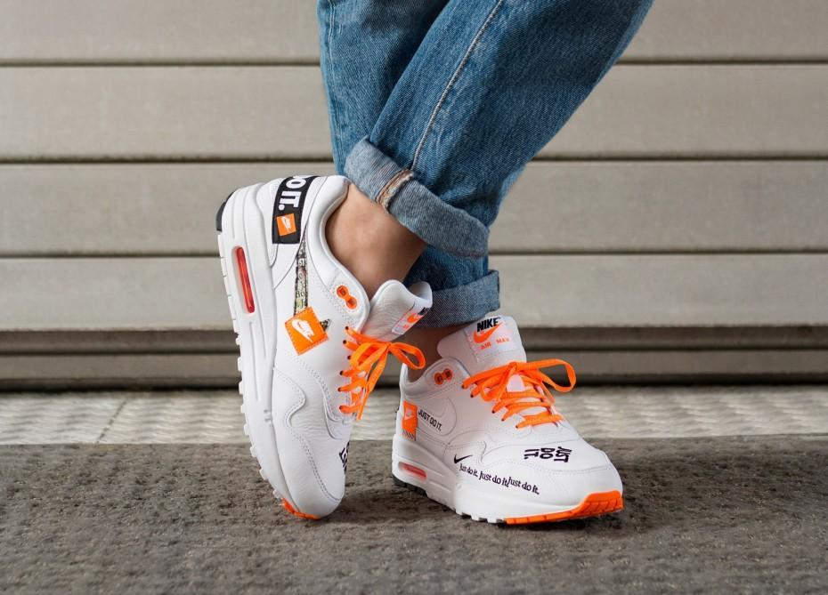 cute cheap newest collection so cheap Nike Air Max 1 'Just Do It' White