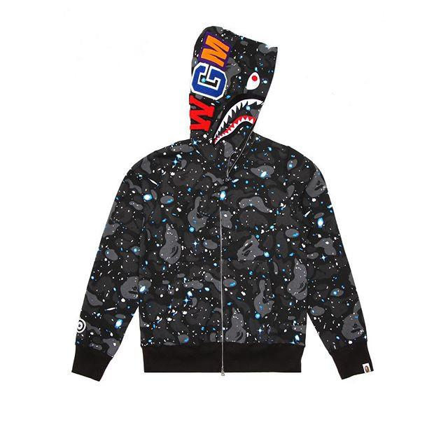 A Bathing Ape Jacket  Space Camo Shark Army Miltary Full Zip