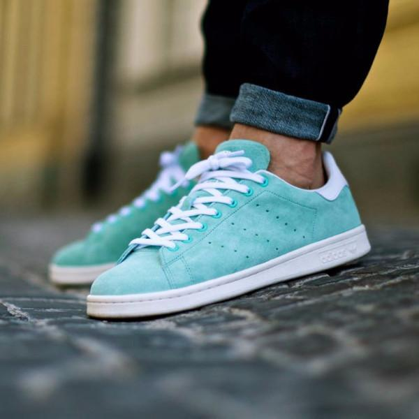 "Adidas Stan Smith Suede ""Mint Green""-D67364"