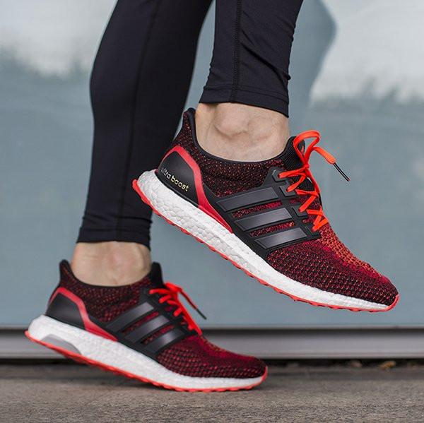 "Adidas Ultra Boost™ 2.0 ""Core Black/Solar Red"""