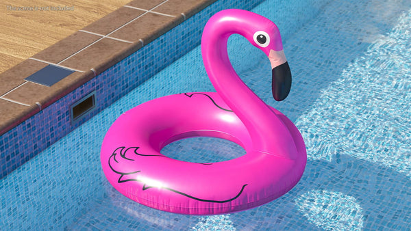 "36"" Inflatable Float Flamingo Shaped Swim Ring"