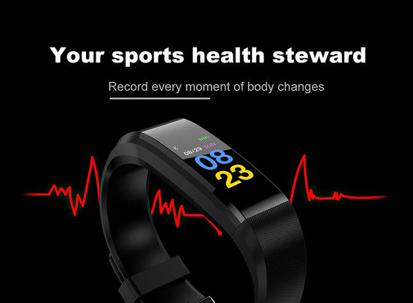 Fitness Tracker Smartwatch Band & Digital Activity Tracking Pedometer with Blood Pressure, Sleep & Heart Rate Monitor | Fitness Gadgets & Accessories