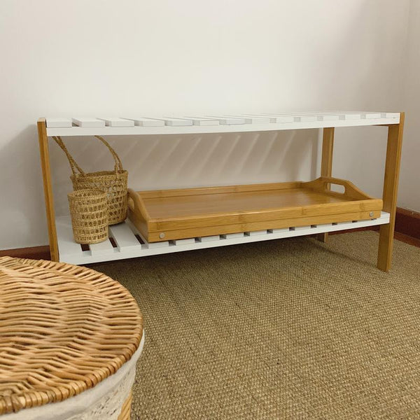 2 in 1 Wooden Bed table - tray Bamboo
